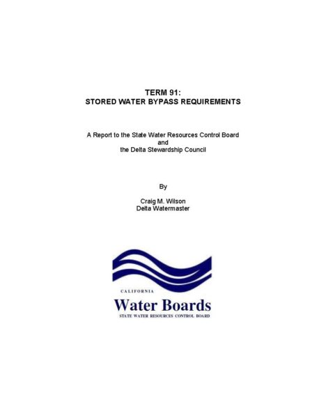 Term 91 Stored Water Bypass Requirements Cover