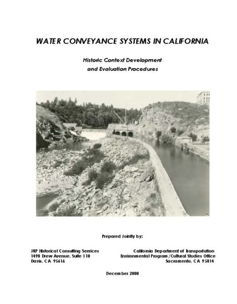Water Conveyance Systems in California Cover