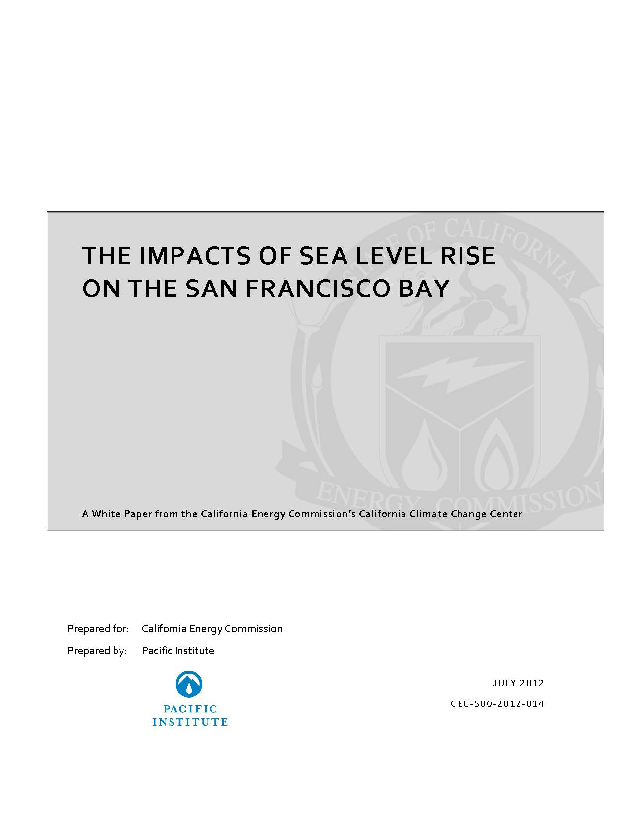The Impact of Sea Level Rise on San Francisco Bay – California Water