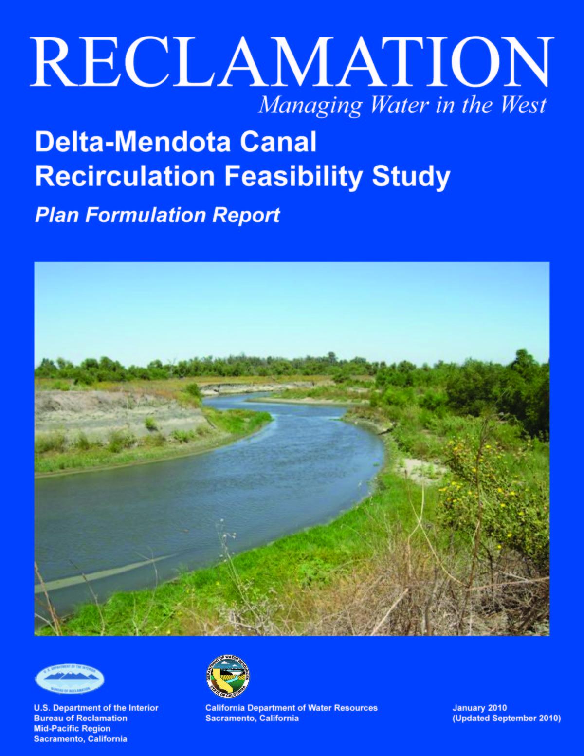 Delta-Mendota Canal Recirculation Feasibility Study Plan Formulation Report