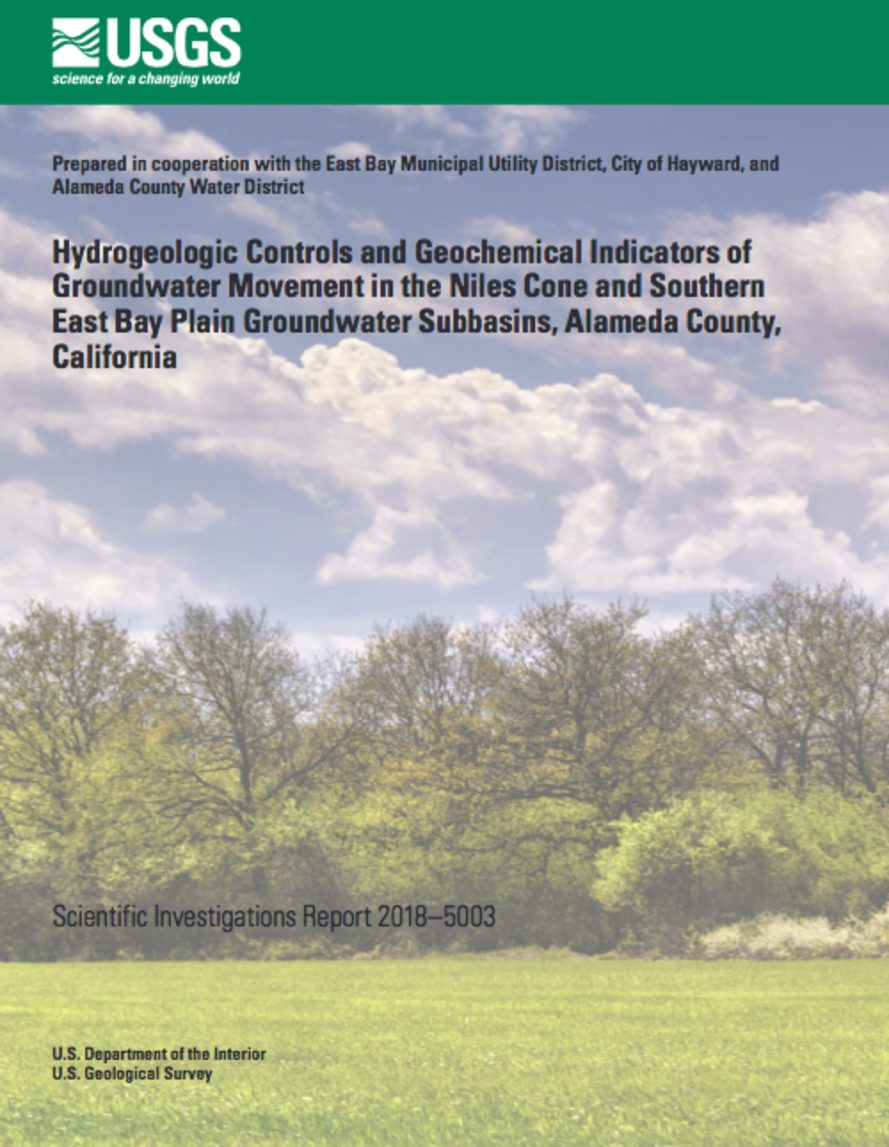 Hydrogeologic Controls and Geochemical Indicators of Groundwater Movement in the Niles Cone and Southern East Bay Plain Groundwater Subbasins, Alameda County, California