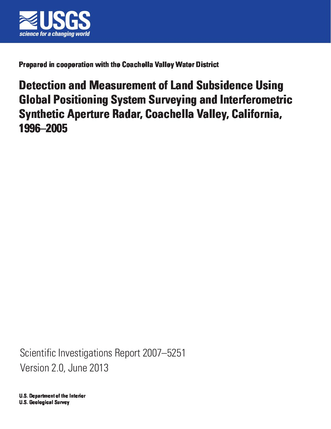 Detection and Measurement of Land Subsidence Using Global