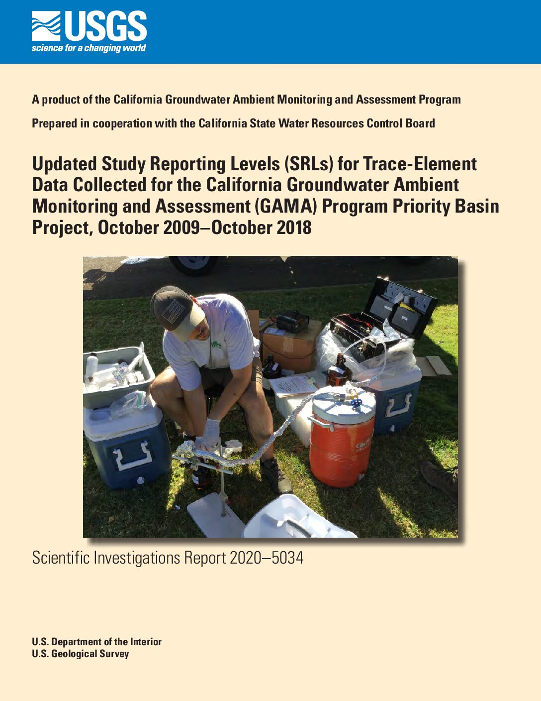 Updated Study Reporting Levels (SRLs) for Trace-Element Data Collected for the California Groundwater Ambient Monitoring and Assessment (GAMA) Program Priority Basin Project, October 2009–October 2018