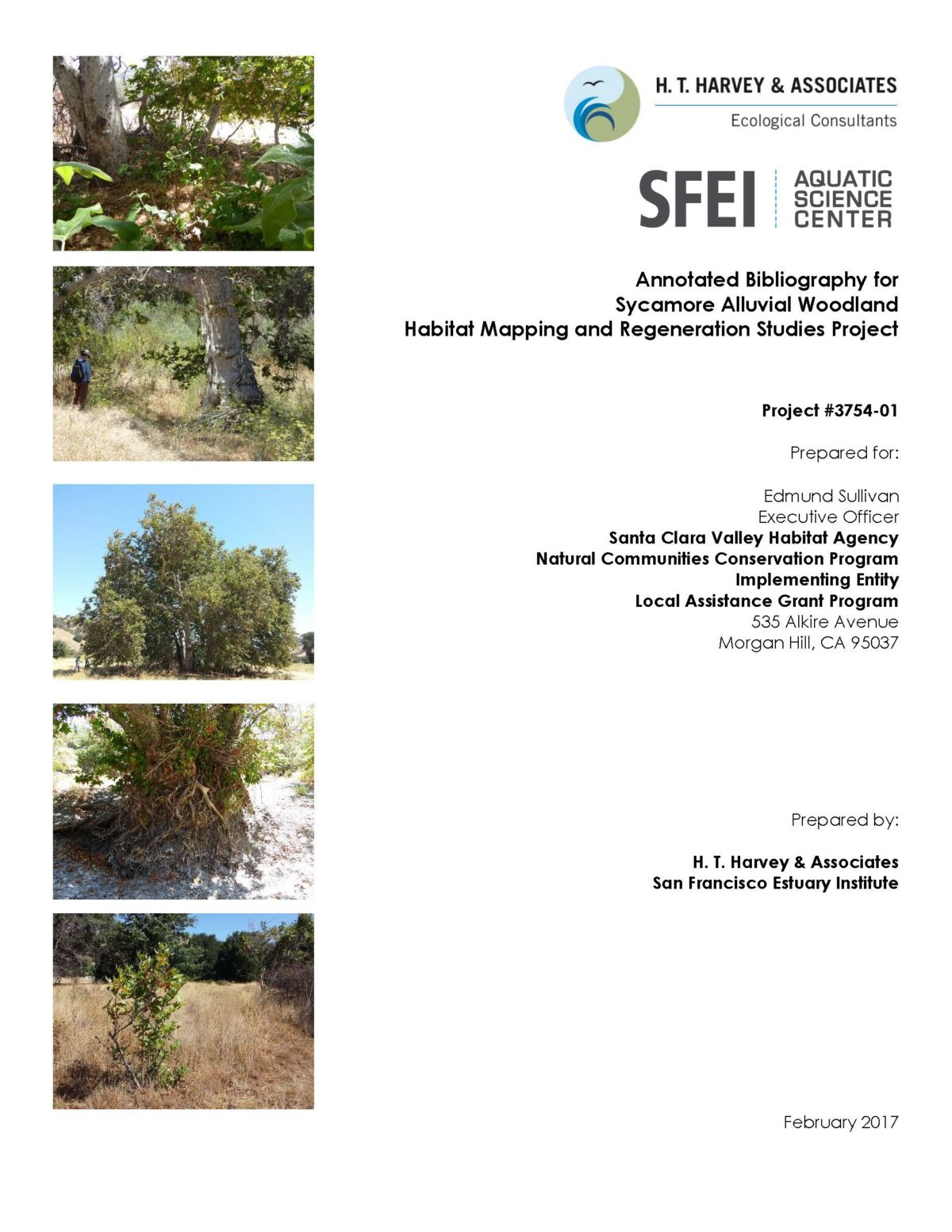Annotated Bibliography for Sycamore Alluvial Woodland Habitat Mapping and Regeneration Studies Project