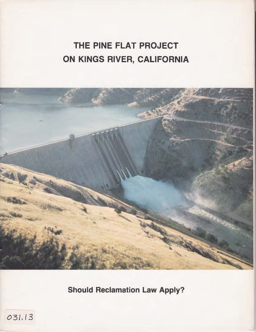 The Pine Flat Project on Kings River, California
