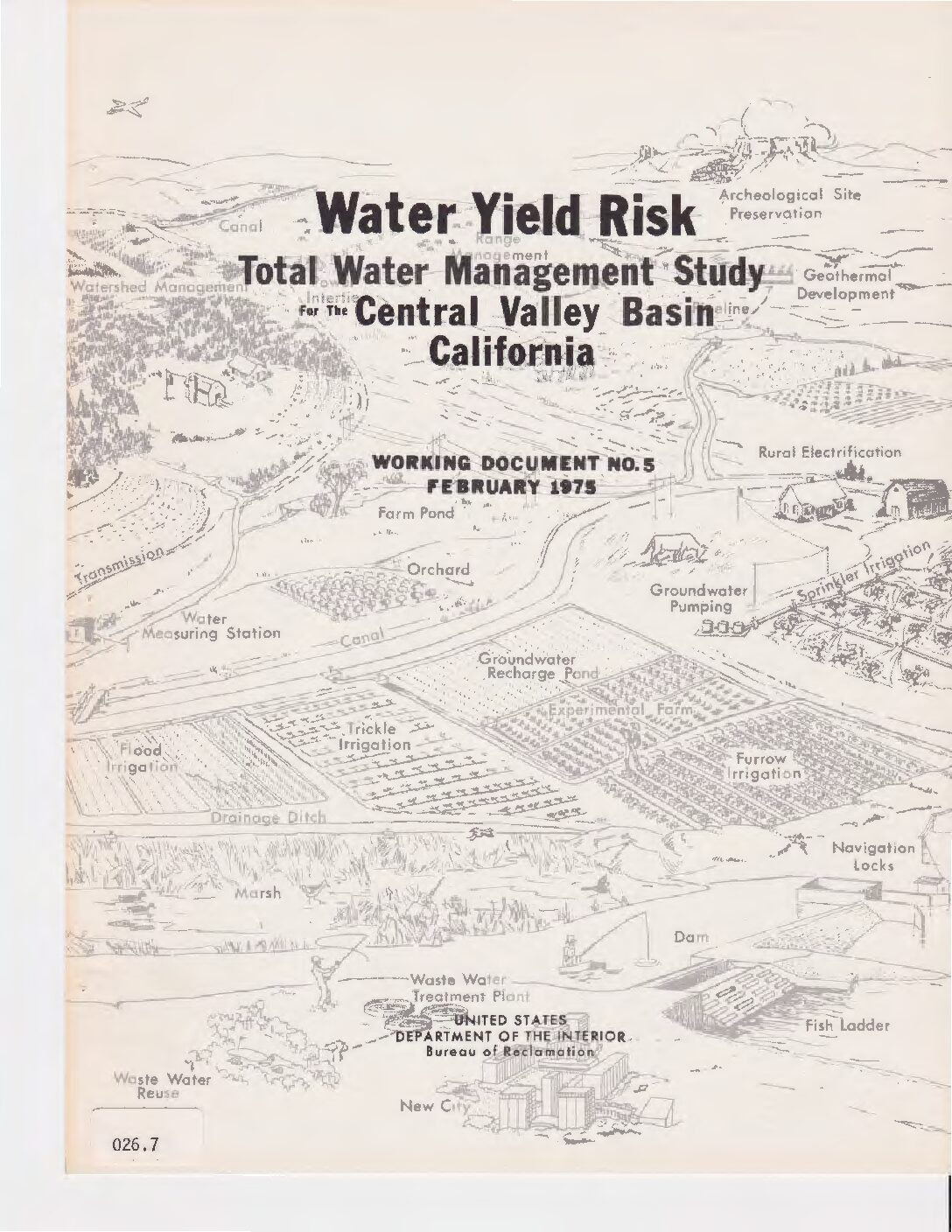 Total Water Management Study for the Central Valley Basin, California, Central Valley Project Water Yield Risk Working Document No. 5